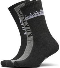 ck mens 3pk crew ck jeans athleisu underwear socks regular socks grå calvin klein