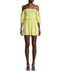 for love & lemons women's chrysanthemum mini dress - lemonade - size s
