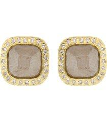 fancy cut diamond stud earrings