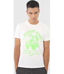 camiseta ellus desert raid off-white/verde