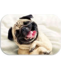 tapete decorativo wevans  pug dog  40cm x 60cm off white - kanui