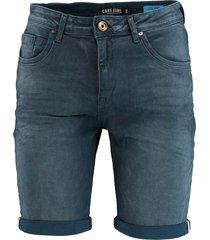 cars jeans korte broek blauw regular fit 45027/57