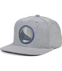 mitchell & ness golden state warriors heather pop out snapback cap