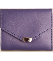 billetera femenina pequeña. morado uni