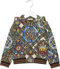 dolce & gabbana vetrate hoodie