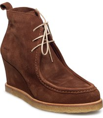 booties - wedge shoes boots ankle boots ankle boot - heel brun angulus