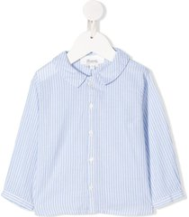 bonpoint peter pan collar striped shirt - blue