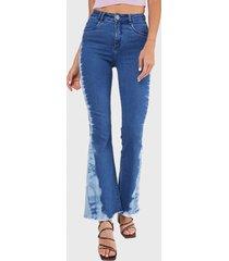jeans flare high waist tie dye celeste amalia jeans