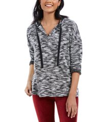 style & co space-dyed french terry hoodie, created for macy's