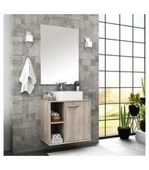 gabinete para banheiro 1 porta com cuba e espelheira anne bosi barrique