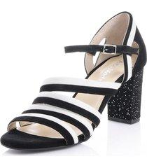 sandaletter alba moda svart::vit