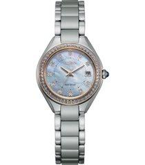 citizen eco-drive women's silhouette crystal stainless steel bracelet watch 26mm