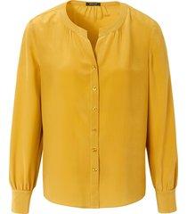blouse van 100% zijde van basler geel