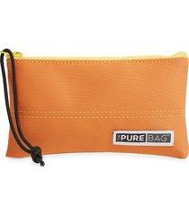 thepurebag wristlet pouch - orange