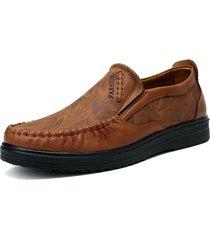 uomo casual scarpe in pelle con suola di stitching fatta mano morbida a taglia grande