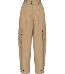 dolce & gabbana panama cargo trousers - brown