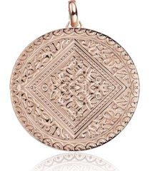 mini marie pendant, rose gold vermeil on silver