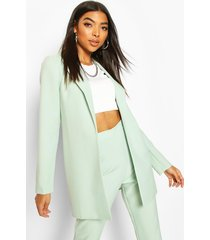 tall edge to edge woven blazer, mint