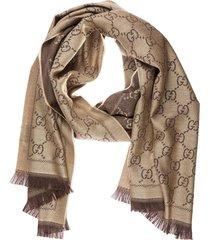 sciarpa donna in lana jacquard