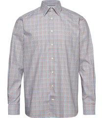 gingham check poplin shirt overhemd casual groen eton