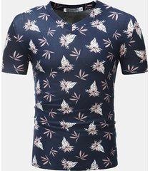 t-shirt manica corta con scollo a v stampata sottile t-shirt casual estiva