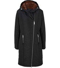 cappotto trapuntato con cerniera asimmetrica (nero) - bpc bonprix collection