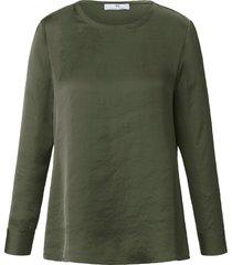 shirt lange mouwen en ronde hals van peter hahn groen