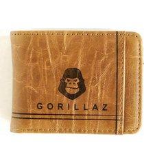 billetera solid camel gorillaz