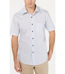 tasso elba men's stretch mini-dobby foulard shirt, created for macy's