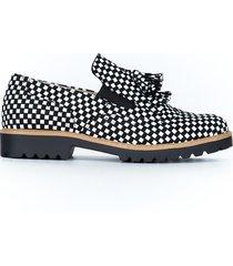 skórzane półbuty zapato 247 cz.b.kwadraty