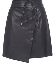 nanushka vegan leather skirt