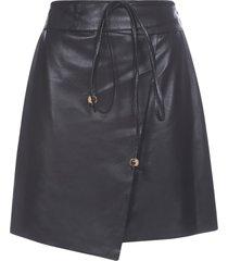 nanushka vegan leather skirt