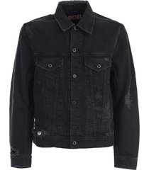 diesel denim destroyed jacket