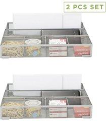 mind reader 2 piece deep storage drawer organizer