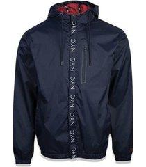 jaqueta new era brand nyc corta vento premium masculino