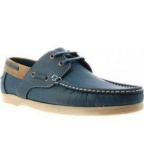 zapato casual  apache san polos 174 azul-pardo