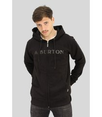 buzo  negro burton logo horizontal hoodie