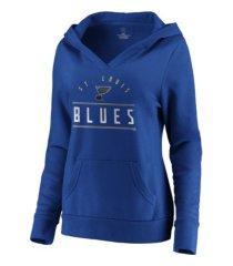 majestic st. louis blues women's leader v-neck fleece sweatshirt