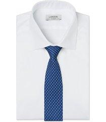 cravatta su misura, lanieri, genova seta blu, quattro stagioni | lanieri