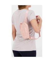 pochete fila waistbag corduroy rosa