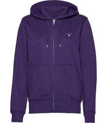 the original full zip hoodie hoodie trui paars gant
