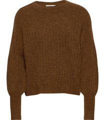 alpiagz pullover ms20 stickad tröja brun gestuz