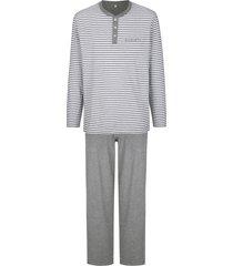 pyjama babista lichtgrijs::wit