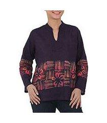 cotton batik tunic, 'island evenings' (thailand)