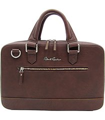 buster i faux leather briefcase