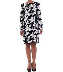 jurk vero moda 10197021 vmjuly ls short dress ret black/safi black