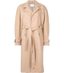 dion lee double belt trench coat - neutrals