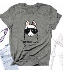 magliette casual stampate a maniche corte per pecore