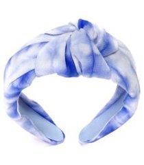 tiara turbante tie dye - azul