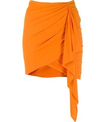 alexandre vauthier draped mini skirt - orange